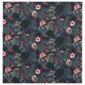 ФИЛОДЕНДРОН Ткань,темно-синий,с цветочным орнаментом