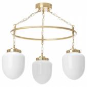 ОТЕРСКЕН Подвесной светильник с 3 лампами, молочный стекло