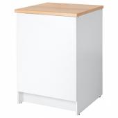 КНОКСХУЛЬТ Напольный шкаф с дверью, белый, 60 см
