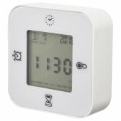 КЛОККИС Часы/термометр/будильник/таймер, белый
