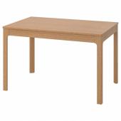 ЭКЕДАЛЕН Раздвижной стол, дуб, 120/180x80 см