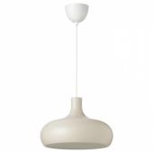 ВЭКШЁ Подвесной светильник, бежевый, 38 см