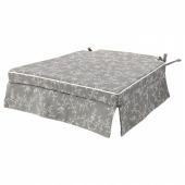 ЭЛЬСЭБЭТ Подушка на стул, серый, 43x42x4.0 см