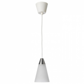 РЕСТАД Подвесной светильник, конусообразный, белый