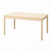 РЁННИНГЕ Раздвижной стол, береза, 155/210x90x75 см