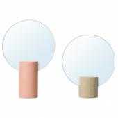 ЛИХОЛЕН Зеркало, 2 шт, розовый, осина