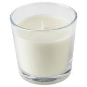 ЛЬЮВАРЕ Ароматическая свеча в стакане, Агаровое дерево, светло-бежевый, 7.5 см