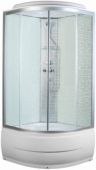 Душевая кабина, Aquapulse, 4102D square white 90*90*220