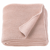 ИГАБРИТТА Плед, бледно-розовый, 130x170 см