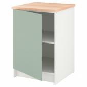 КНОКСХУЛЬТ Напольный шкаф с дверью, серо-зеленый, 60 см