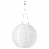 СОЛВИДЕН Подвесная светодиодная лампа, для сада, шаровидный белый, 30 см