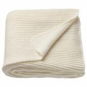 ИГАБРИТТА Плед, белый с оттенком, 130x170 см