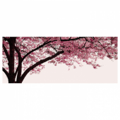 ПЬЕТТЕРИД Картина, Вишневое дерево в цвету, 140x56 см