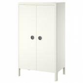 БУСУНГЕ Шкаф платяной, белый, 80x139 см