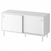 МАККАПЭР Скамья с отделениями д/хранения, белый, 100x51 см