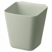 СУННЕРСТА Контейнер, бледно-зеленый, 12x11 см