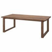 МОРБИЛОНГА Стол, дубовый шпон коричневая морилка, 220x100 см