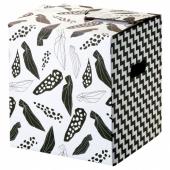 ОМБЮТЕ Упаковочная коробка, белый/черный, 33x33x35 см