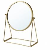 ЛАССБЮН Зеркало настольное, золотой, 17 см