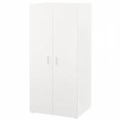 СТУВА / ФРИТИДС Шкаф платяной, белый, белый, 60x50x128 см