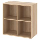 ЭКЕТ Комбинация шкафов с ножками, под беленый дуб, 70x35x72 см