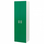 СТУВА / ФРИТИДС Гардероб, белый, зеленый, 60x50x192 см