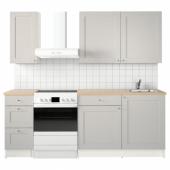 КНОКСХУЛЬТ Кухня, серый, 160x61x220 см