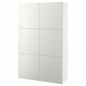 БЕСТО Комбинация для хранения с дверцами, Лаксвикен белый, 120x40x192 см