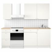 КНОКСХУЛЬТ Кухня, белый, 160x61x220 см