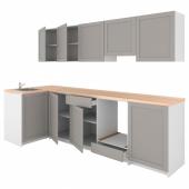 КНОКСХУЛЬТ Кухня, серый, 120x300x220 см