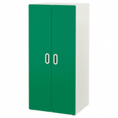 СТУВА / ФРИТИДС Шкаф платяной, белый, зеленый, 60x50x128 см