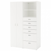 СТУВА / ФРИТИДС Шкаф платяной, белый, белый, 120x50x192 см