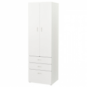 СТУВА / ФРИТИДС Шкаф платяной, белый, белый, 60x50x192 см